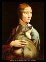 "iPad Art ""Lady with an Ermine and Henry"""