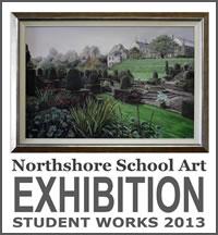 NORTHSHORE SCHOOL OF ART ANNUAL EXHIBITIION 2013 POSTER