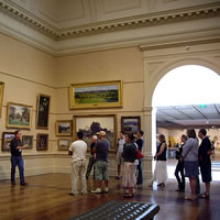 Art Talk at the NSW art gallery by mike lamble