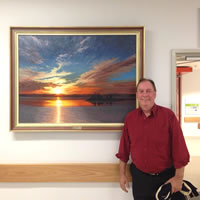 mike's donated painting to rnsh
