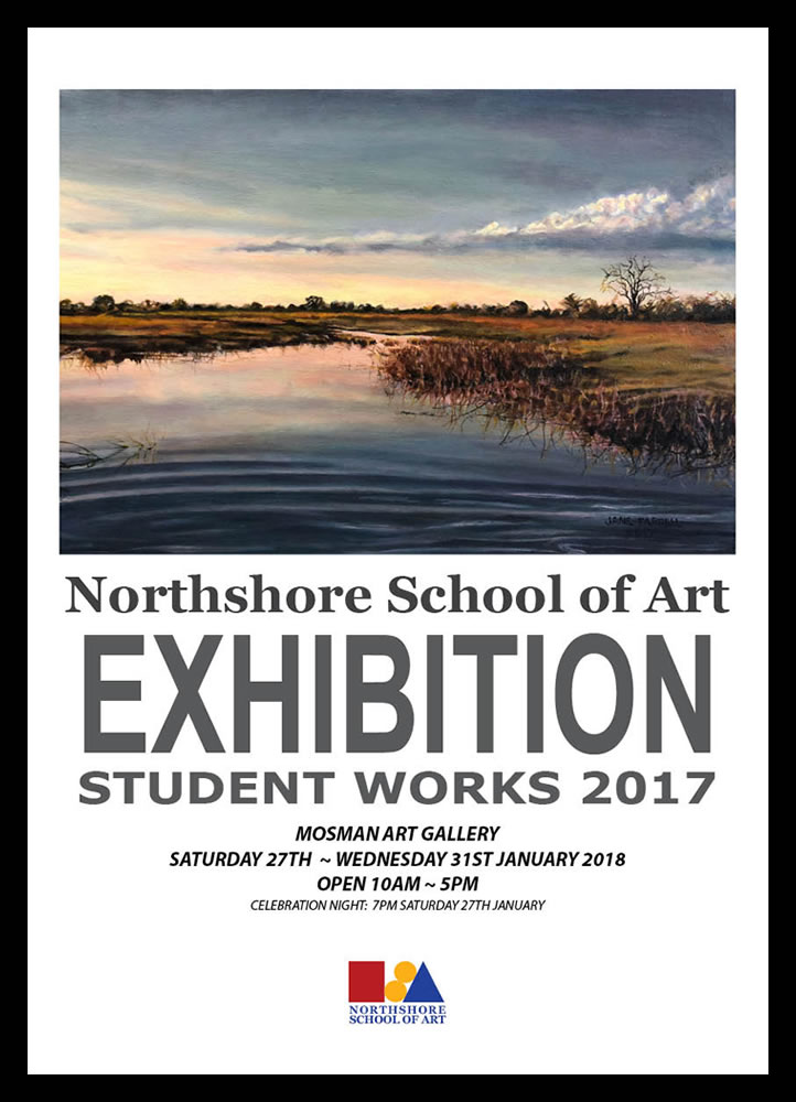 NorthShore School of Art EXHIBITION Student Works 2017 Poster